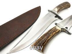 Louis Salvation Custom Handmade D2 Steel Hunting Bowie Dagger Knife Stag/antler
