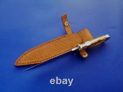 Master Ricardo Velarde Maker Custom Made Baby Bear Full Integral Hunter Knife