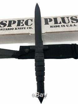 NEW Ontario Spec Plus SP3-95 M-7 BAYONET DOUBLE Edge Knife Dagger Sheath NOS