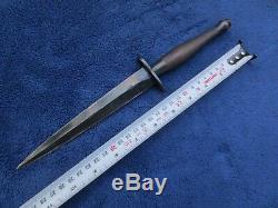 Original British 2nd Pattern Fairbairn Sykes Dagger Fighting Knife And Sheath