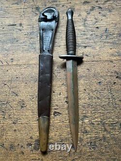 Original Third Pattern Fairbairn Sykes Fighting Knife Dagger Ww2 Commando Sas
