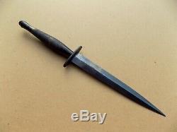 Original WWII 2nd Pattern Fairbairn Sykes Fighting Knife Dagger