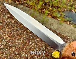 Pro-Tech RARE new Brend Elite Combat Dagger Knife Fixed Blade Maple Burl