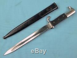 RARE German Germany WW1 Saw Back Dress Dagger Fighting knife with Scabbard