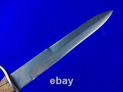 RARE Italian Italy WW2 WWII Engraved Handle Fighting Knife Dagger & Scabbard