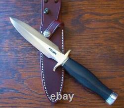 Randall Model 2-5 Ss Blk Fighting Stiletto Dagger New Knife Knives