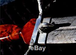 Raptor GIBEON Meteorite custom DAGGER, Knife. 999 fine silver, Signed
