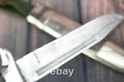 Rare German Fighting Knife Dagger K98 Mauser remake w Scabbard Bulgarian army