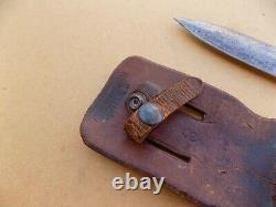 Rare WWII Frank Richtig Fighting Knife Dagger with Cornish Sheath
