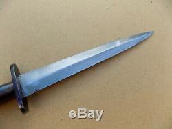 Rare WWII French Resistance Fairbairn Sykes Fighting Knife Dagger