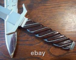 Ron Frazier Presentation Custom Dagger Knife W Nickel Silver Sheath Stunning