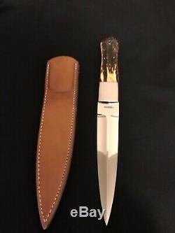 S. R. Johnson/H. Schneider Knife Makers Custom Stag Dagger-Loveless Design-Rare