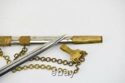 SCARCE BULGARIAN COMMUNIST OFFICER KNIFE COMBAT DAGGER PARADE DIRK 50`s w chain