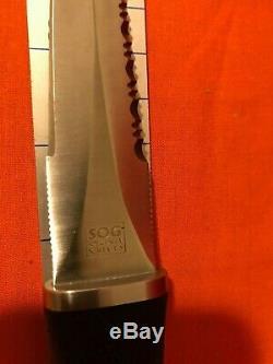 SOG Specialty Knives Seki-Japan S14 Pentagon Combat Dagger Boot Knife, Sheath