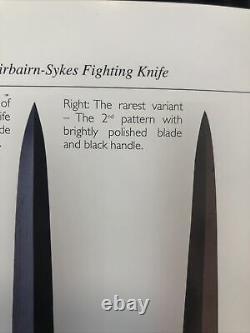 Scarce 2nd Pattern WW2 British Fairbairn Sykes FS Fighting Knife Dagger w Sheath