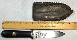 Sheffield Western CIVIL War Era Dirk Dagger Fighting Knife Gold Coin Ebony Grip