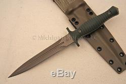 Spartan Blades V-14 Dagger Knife CPM S35-VN SS FDE / Green G10 with Tan Kydex