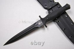 Spartan Blades V-14 Knife Dagger PVD with Black Micarta & Black Kydex sheath