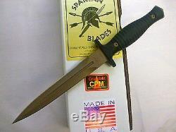 Spartan George V-14 Dagger Fighting Knife Tan Blade Black Handle & Kydex Sheath