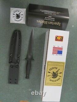 Spartan George V-14 Dagger Fixed Blade Fighting Knife Kydex Sheath