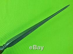 US Custom Handmade by DON DOUG CASTEEL Huge Art Dagger Stiletto Fighting Knife