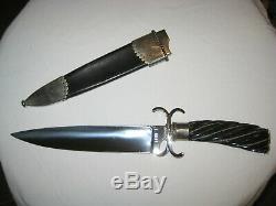 US Custom Made Handmade Lloyd HALE Bowie / Dagger Fighting Knife & Scabbard Case