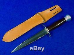 US WW2 Custom Handmade Theater Stiletto Fighting Knife Dagger with Sheath