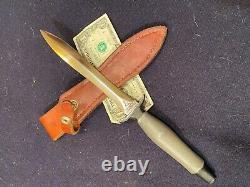 US gerber mark II mk2 Fighting Knife Dagger plain Blade #036048 razor sharp