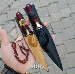 Ubr Custom Handmade D2-tool Steel Hunting Daggers Knives Set Of 2 With Sheath