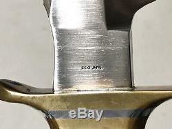 Vintage 1980 Al Mar SOF SOG Seki Japan Green Berets Combat Dagger Knife Sheath