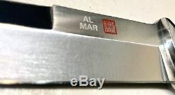 Vintage 1980 Al Mar Seki Japan 3004 Sere Fighting Dagger Knife Sheath Case