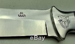 Vintage 1980' Al Mar Seki Japan Fighting Dagger Knife Sheath Mint