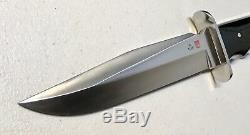 Vintage 1980 Large Al Mar Seki Japan Fighting Dagger Knife WithNylon Sheath 13L