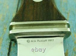 Vintage A G Russell Ark 1977 German Sting Boot Dagger Dirk Knife Fighting Knives