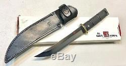 Vintage Al Mar Seki Japan Shugoto1 Tanto Fighting Dagger Knife Sheath Case Mint