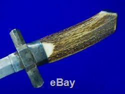 Vintage Antique Custom Made French France English British Fighting Knife Dagger