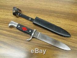 Vintage Edge Brand Solingen Germany Fahrtenmesser Dagger Scout 420 Knife Wingen