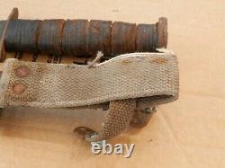 Vintage Kabar USN MK2 Fighting Knife Dagger & NORD Scabbard Estate Find