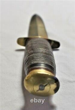 Vintage TAYLOR Eye Witness Fix Blade Double Edge Dagger 11-1/2 Knife Sheffield