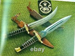 Vintage WW2 Period Middle East Small Dagger Fighting Knife with Sheath