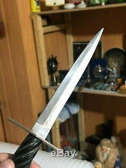 Vintage knife sharpening dagger hand made PRISON