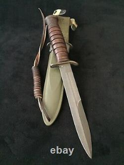 WW II 2 US M3 PAL Trench Fighting Knife Dagger M8 Scabbard Army Paratrooper A+