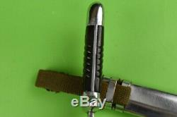 WW2 German Fighting Knife Dagger K98 scabbard Mauser 40659 Bulgarian army WWII