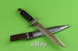 WW2 German Fighting Knife Dagger K98 with scabbard Mauser Bulgarian army WWII