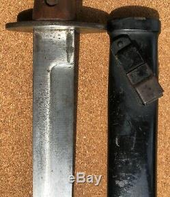 WW2 Italian M1939 FIGHTING KNIFE Combat Dagger with Scabbard NICE
