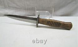 WWI WWII German trench, boot, fighting knife dagger withscabbard Hugo Solingen