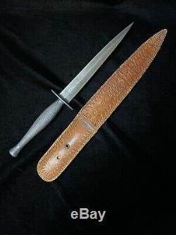 WWII US Marine Raider Camillus Cutlery USMC Stiletto Dagger Fighting Knife WW2