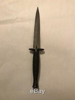 WWII WW2 ENGLAND Fairbairn Sykes Commando Fighting Knife Dagger with Sheath