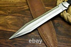 17 Lame Fixe Faite Main Sur Mesure D2 Outil De Chasse En Acier Dague Roman Gladius Couteau
