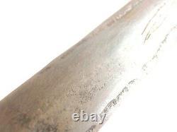 1880's Great Antique Dagger Couteau Plein Tang, Poignée De Corne Avec Rivets En Laiton